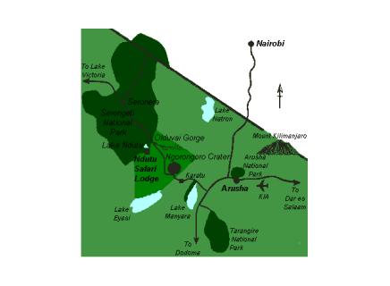 ndutu-kaart
